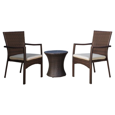 Christopher Knight Patio Furniture.Corsica 3pc All Weather Wicker Patio Chair Set Brown Christopher Knight Home