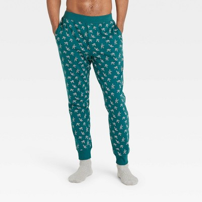 Men's Regular Fit Knit Jogger Pajama Pants - Goodfellow & Co™ Dark Green