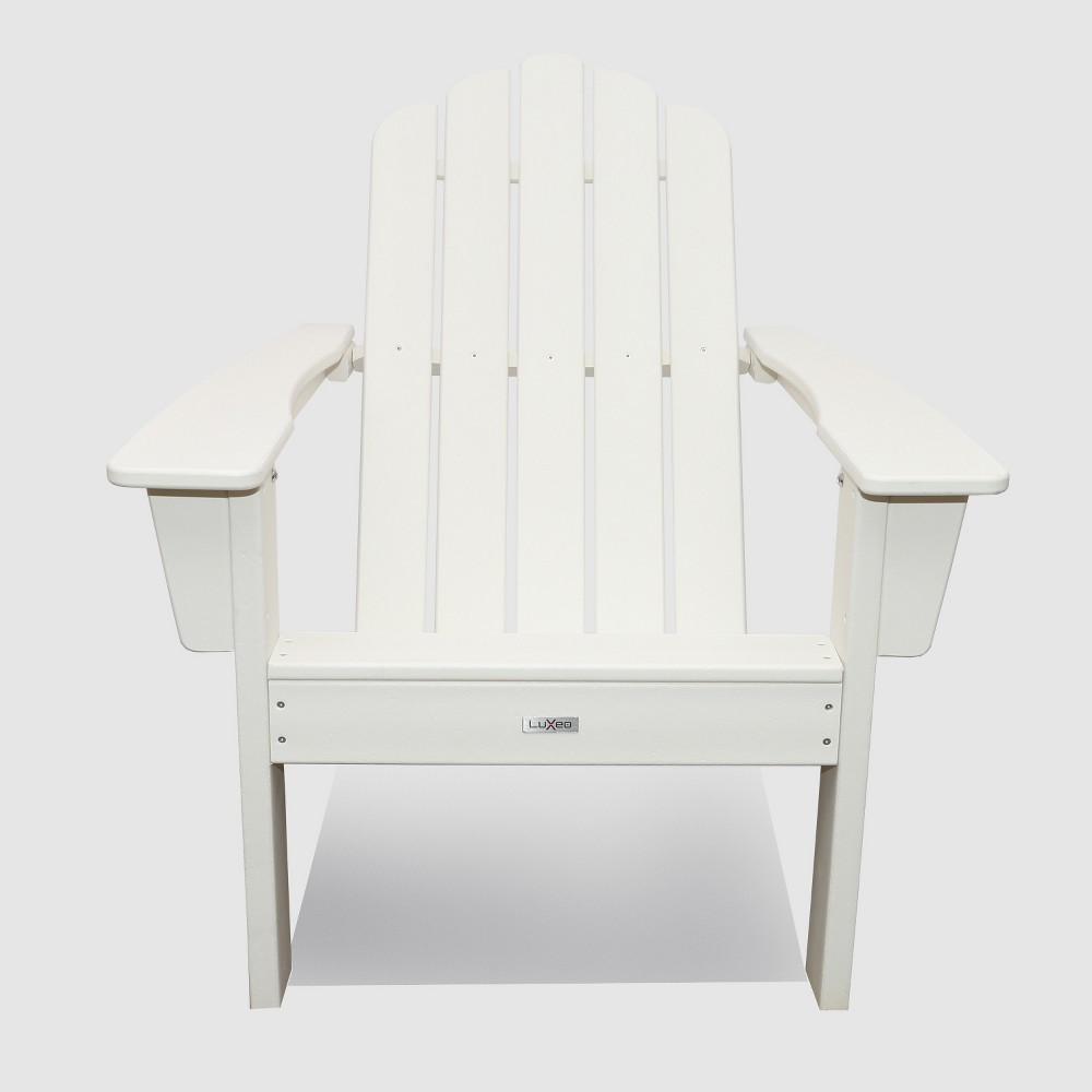Image of Marina Outdoor Patio Adirondack Chair White - LuXeo