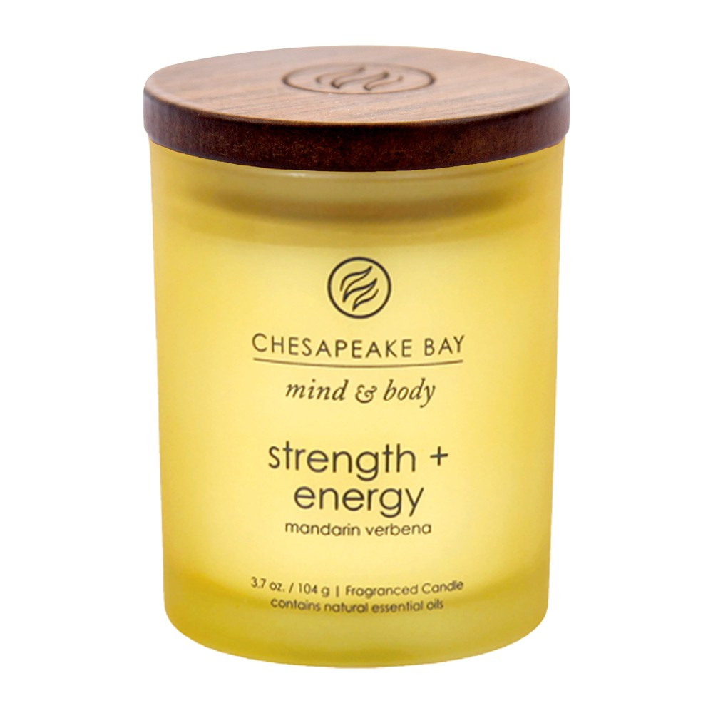Image of 3.7oz Small Jar Candle Strength & Energy - Mind And Body By Chesapeake Bay Candle, Yellow