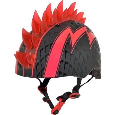 Raskullz LED Bolt Light Up Mohawk Child Helmet - Black/Red