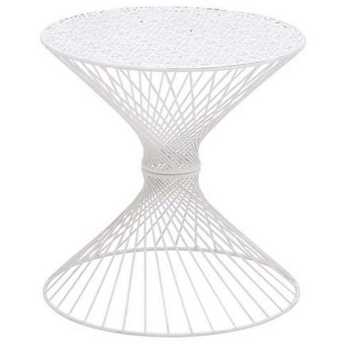 Appealing Styled Metal White Accent Table - image 1 of 1