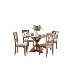 5pc Rose Dining Set Driftwood - Buylateral