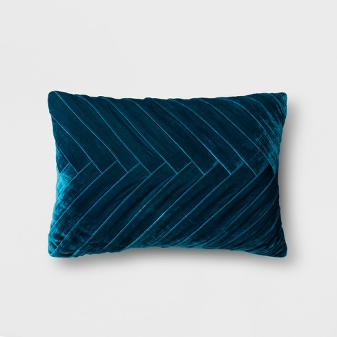 Pleated Velvet Lumbar Pillow - Opalhouse™ - image 1 of 5