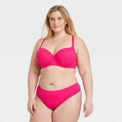 Women's Plus Size Seamless Thong - Auden™ Pink