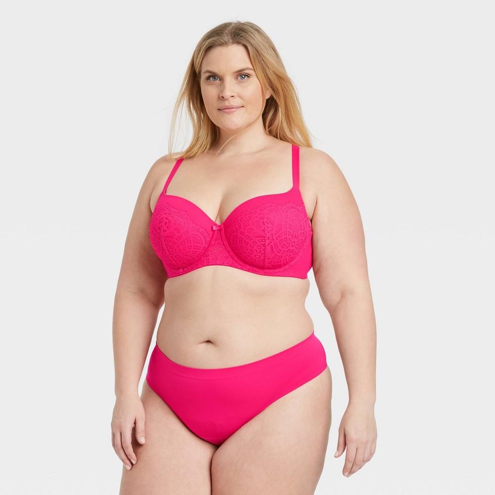 Women 39 S Plus Size Seamless Thong Auden 8482 Pink 3x