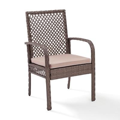 Delightful Tribeca Outdoor Wicker Dining Chair   Crosley