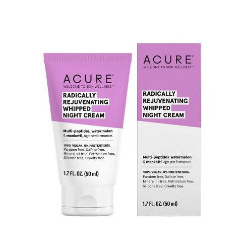 Acure Radically Rejuvenating Whipped Night Cream Facial Moisturizers - 1.7 fl oz - image 1 of 4
