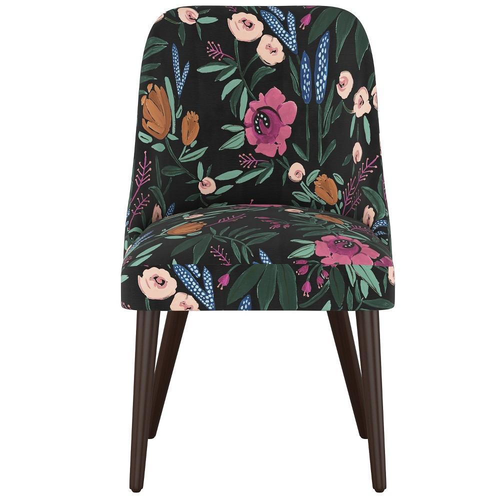 Geller Dining Chair Blonde Finish Dark Floral Print - Project 62