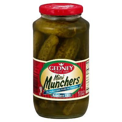 Gedney Mini Munchers Kosher Dill - 32oz