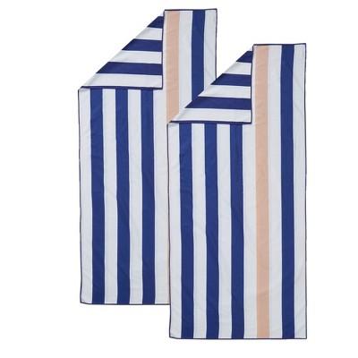 Great Bay Home 2 Pack Reversible Microfiber Beach Towel