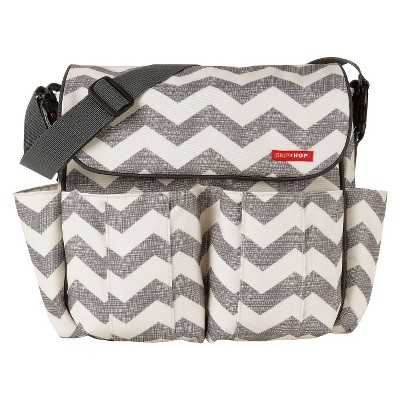 Skip Hop Dash Messenger Diaper Bag Chevron