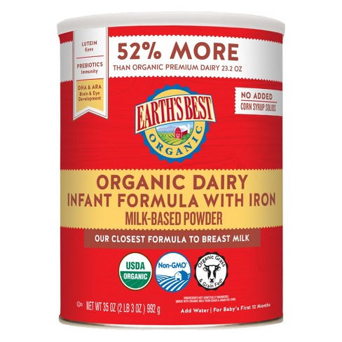 Earth's Best Organic Infant Formula with Iron Powder - 35oz - image 1 of 4