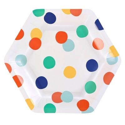 "7"" 10ct Hex Snack Retro Dots - Spritz™"