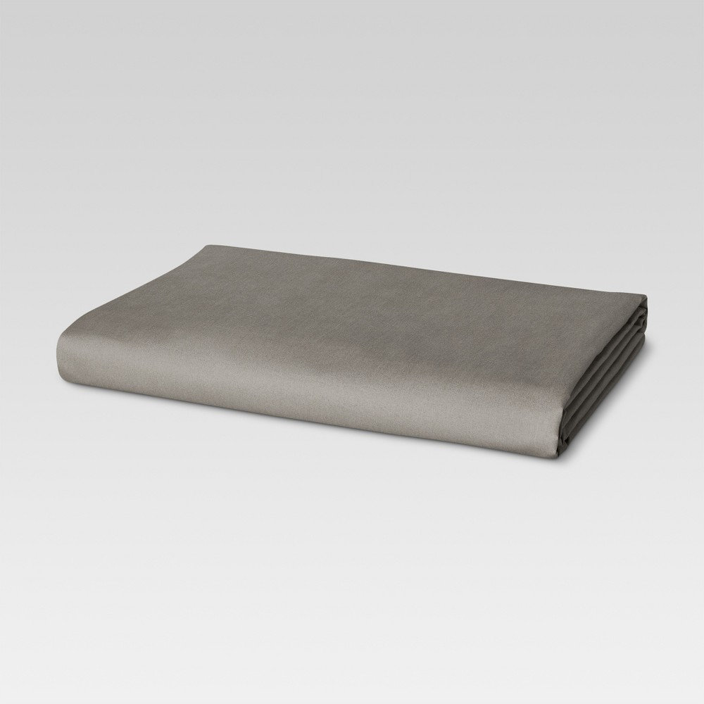 Image of California King 300 Thread Count Ultra Soft Fitted Sheet Radiant Gray - Threshold