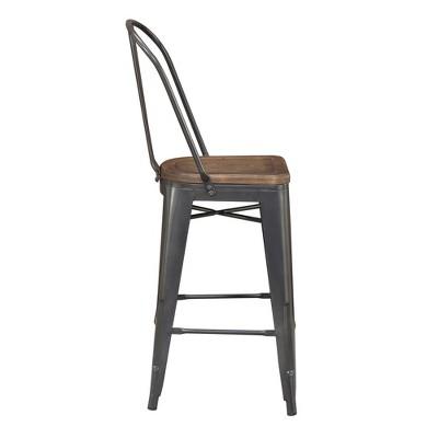 2pc Logan Counter Height Barstools Set Gray - Picket House Furnishings : Target