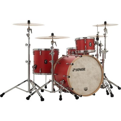 Sonor SONOR SQ1 3-Piece Shell Pack with 20 in. Bass Drum Hot Rod Red