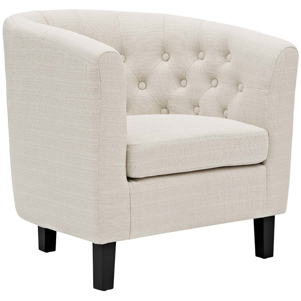 Prospect Upholstered Armchair Beige - Modway