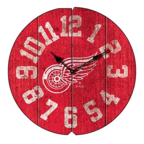 NHL Detroit Red Wings Vintage Round Clock - image 1 of 1
