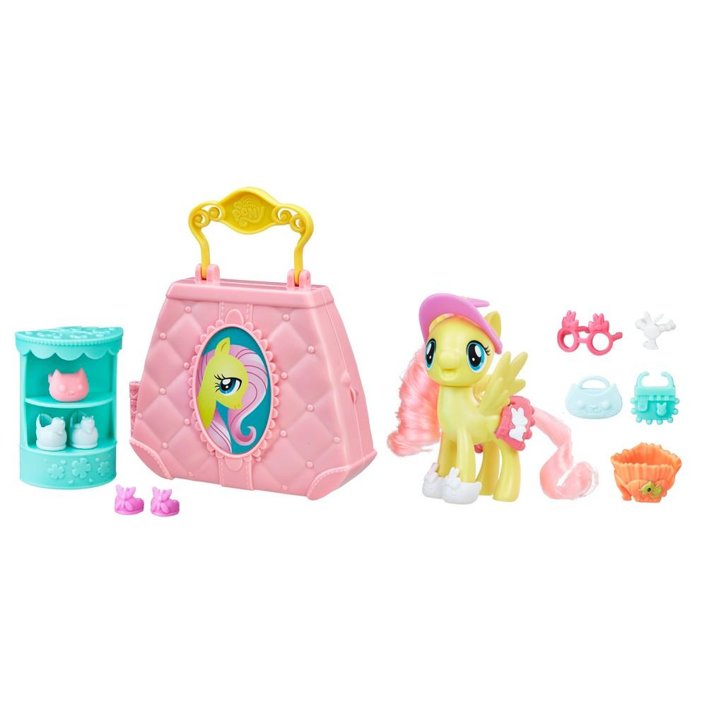 My Little Pony the Movie Fluttershy Purse Pet Care - 14pc