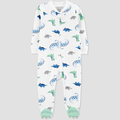 Baby Boys' Dino One Piece Pajamas - Just One You® made by carter's White 3M