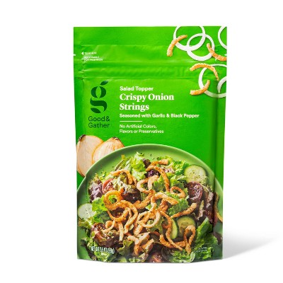 Garlic Pepper Crispy Onion Strings Salad Topper - 3.5oz - Good & Gather™