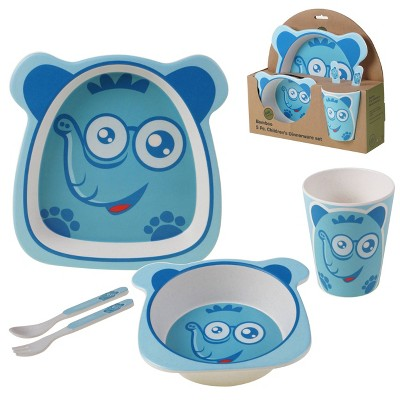 5pc Bamboo Elephant Children's Dinnerware Set - Certified International