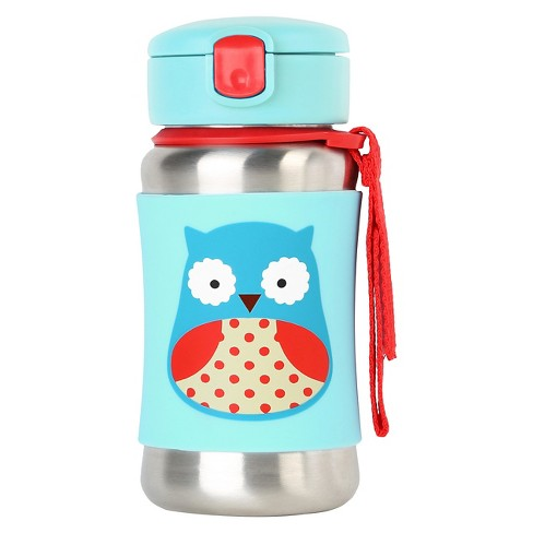 Skip Hop Zoo Stainless Steel Straw Bottle - Owl - image 1 of 3