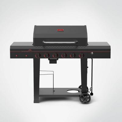 Megamaster 6-Burner Gas Grill 720-0983 - Black