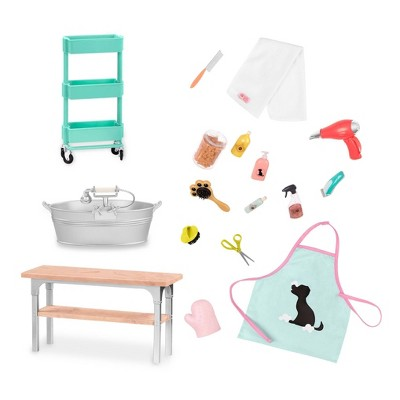 """Our Generation Pet Grooming Salon Accessory Set for 18"""" Dolls"""