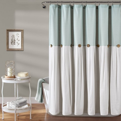Linen Button Shower Curtain - image 1 of 5