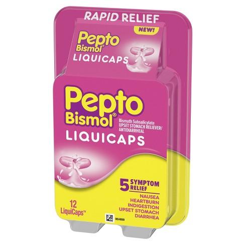 Pleasing Pepto Bismol 5 Symptoms Digestive Relief Liquicaps 12Ct Uwap Interior Chair Design Uwaporg