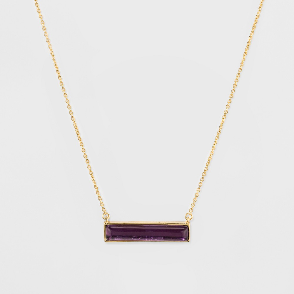 Silver Plated Onyx Stone Necklace - A New Day Gold