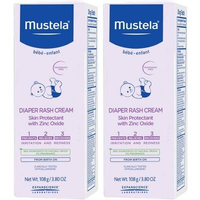 Mustela Fragrance Free Diaper Rash Cream - 2 pk/7.6 oz Total