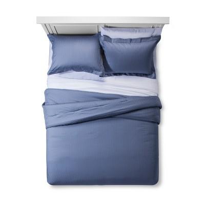 Spa Blue Damask Stripe Comforter Set (Queen)- Fieldcrest®