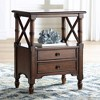 """Coast to Coast Tamryn 24"""" Wide Brown Cherry 2-Drawer Accent Table - image 2 of 4"""