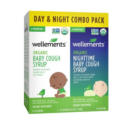 Wellements Organic Day & Night Baby Cough Syrup - 2pk/4 fl oz