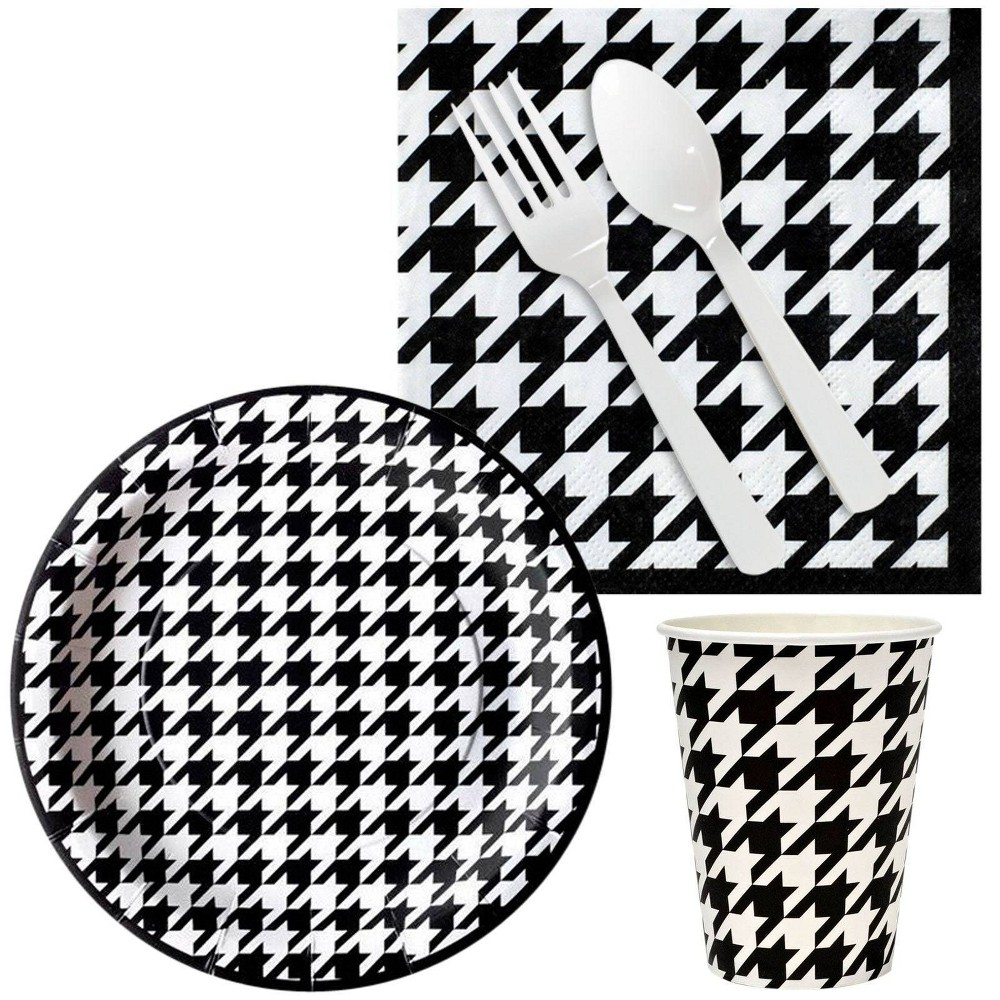 16ct Houndstooth Party Kit