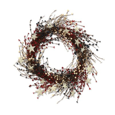 "GIL 22""L Americana Berry Wreath"