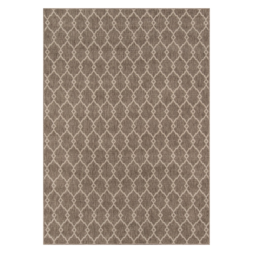 Geometric Loomed Accent Rug Taupe