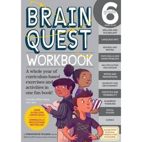 Brain Quest Workbook Grade 6 05/19/2015 Juvenile Nonfiction (Paperback) - image 1 of 1