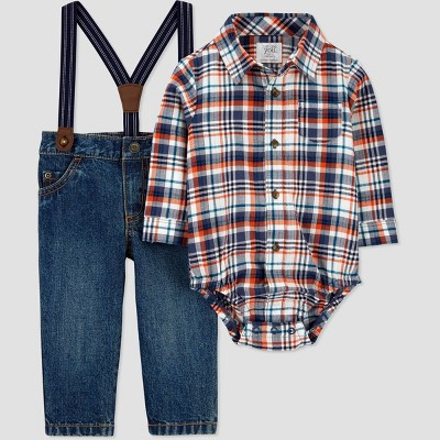 Baby Boys' Plaid Denim Top & Bottom Set - Just One You® made by carter's 12M