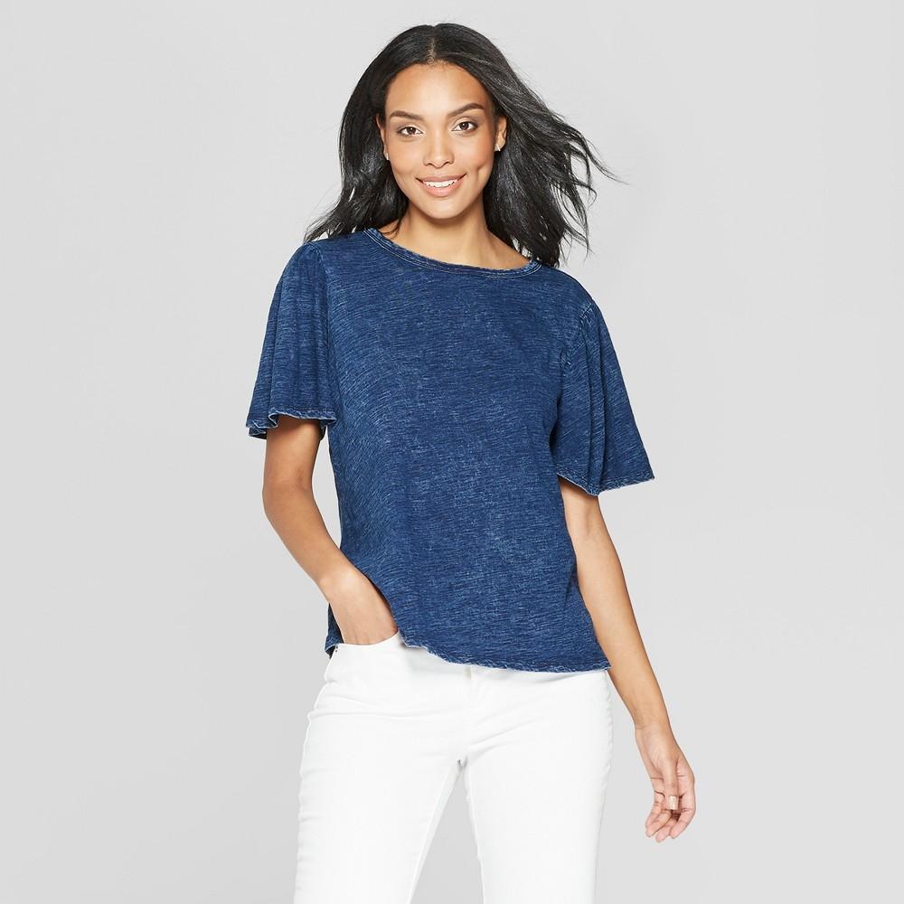 Women's Short Sleeve Scoop Neck - Universal Thread Indigo (Blue) XL