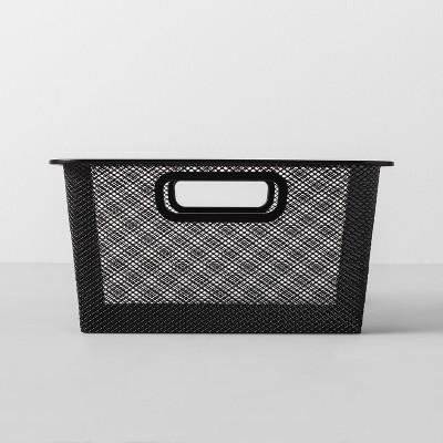 Short Metal Bin 11 W X 11 D X 5.25 H - Black - Made By Design™