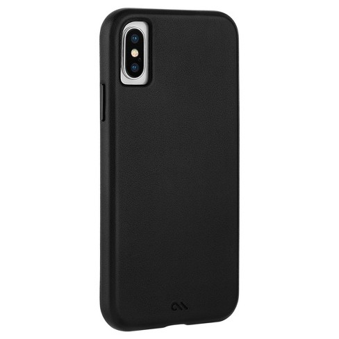 wholesale dealer 1c3d2 8d6f0 Case-Mate Apple iPhone X/XS Barely There Leather Case - Smooth Black