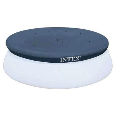 Intex 10' Easy Set Above Ground Swimming Pool Vinyl Round Cover Tarp + 8' Cover