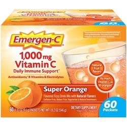 Emergen-C Vitamin C Supplement Drink Mix - Super Orange - 60ct