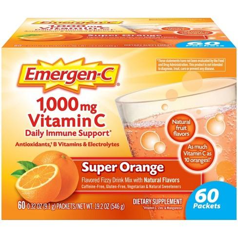 Emergen-C Vitamin C Supplement Drink Mix - Super Orange - 60ct - image 1 of 4