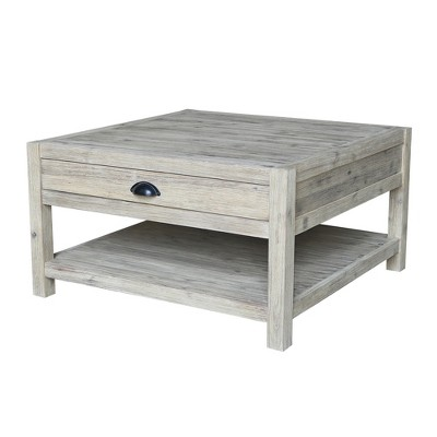 Modern Rustic Square Coffee Table Gray Wash - International Concepts