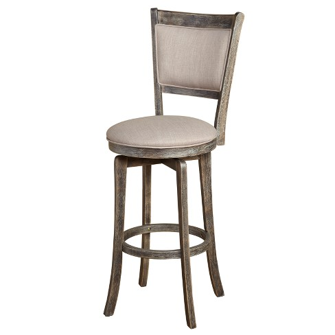 Miraculous 30 French Country Swivel Stool Weathered Gray Buylateral Ncnpc Chair Design For Home Ncnpcorg